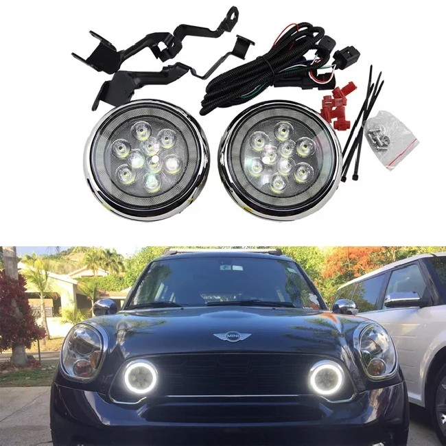 Faro Rally LED DRL Mini Cooper R56 Color Cromado